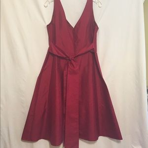 Ann Taylor Red Cocktail Dress